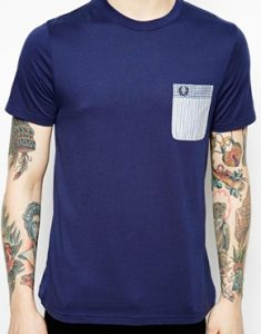 Fred-Perry-T-shirt-avec-poche-contrastante-2