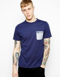 Fred-Perry-T-shirt-avec-poche-contrastante