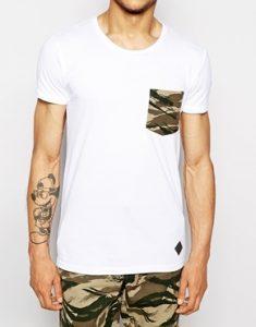 Minimum-T-shirt-avec-poche-a-imprime-camouflage-2