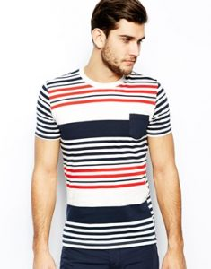 United-Colors-Of-Benetton-T-shirt-raye-avec-poche