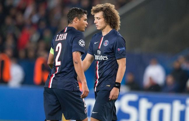 David Luiz a remplacé Thiago Silva en première période face à Barcelone